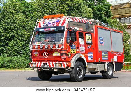Moscow, Russia - July 7, 2012: Assistance Truck Mercedes-benz Ng 1222 No.567 Takes Part In The Annua
