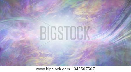 Beautiful Dreamy Magical Energy Background - Multicoloured Ethereal Gaseous Flowing Surreal Backgrou