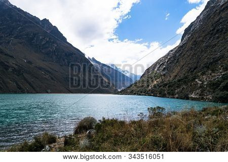 Located In The Cordillera Blanca Range Near The City Of Huaraz In Northern Peru, The Santa Cruz Trek