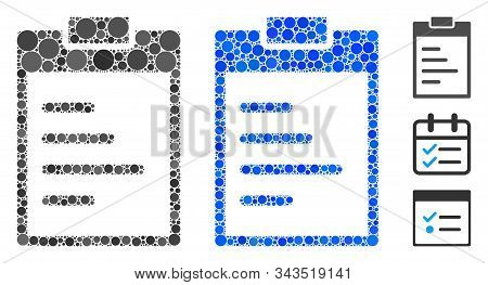 Inventory Pad Mosaic Of Filled Circles In Variable Sizes And Color Tinges, Based On Inventory Pad Ic