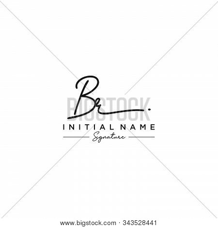Letter Initial Br Signature Logo Template Vector