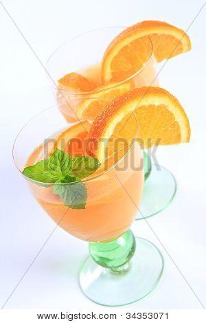 Orange Juice Fruit Cocktail
