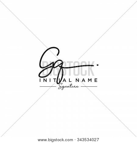 Letter Initial Gq Signature Logo Template Vector