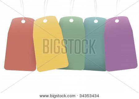Colored Blank Labels