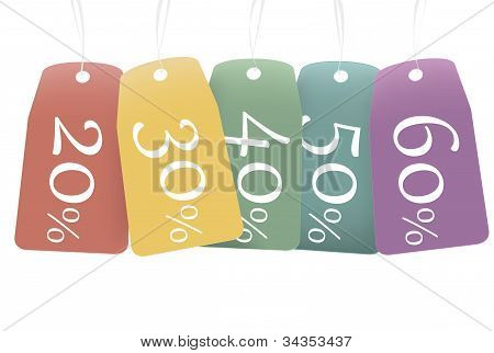 Colored Discount Labels