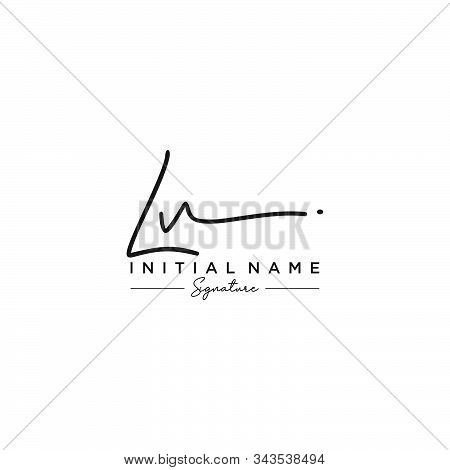 Letter Initial Lv Signature Logo Template Vector