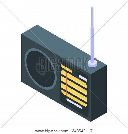 Antenna Radio Icon. Isometric Of Antenna Radio Vector Icon For Web Design Isolated On White Backgrou