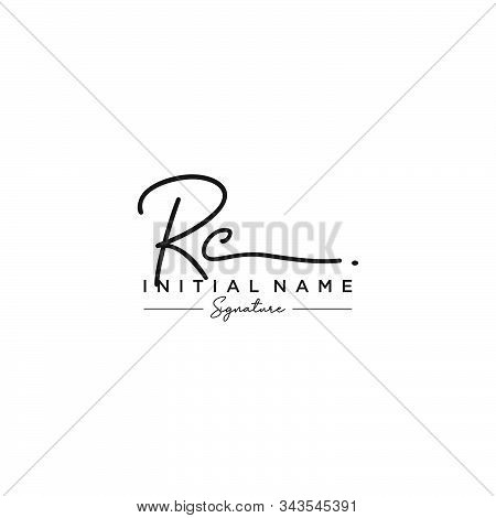 Letter Initial Rc Signature Logo Template Vector