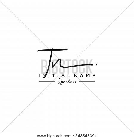 Letter Initial Tn Signature Logo Template Vector