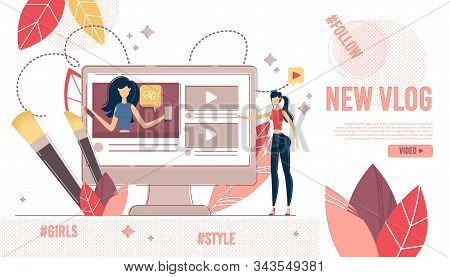 Beauty And Fashion Video Content View. Shopping Blogger Showing New Trendy Cosmetics Makeup Online T