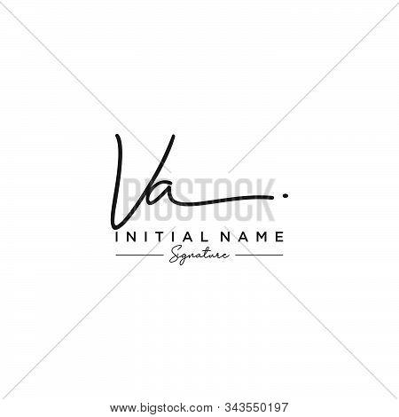 Letter Initial Va Signature Logo Template Vector