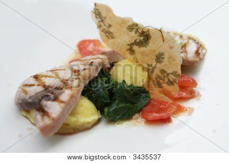 Decorated Fish Dish