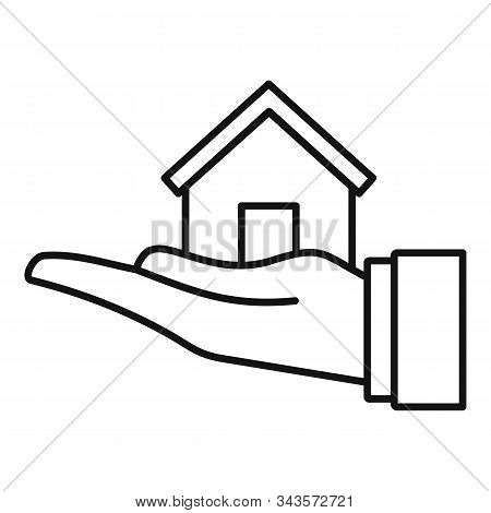 Leasing Home Icon. Outline Leasing Home Vector Icon For Web Design Isolated On White Background