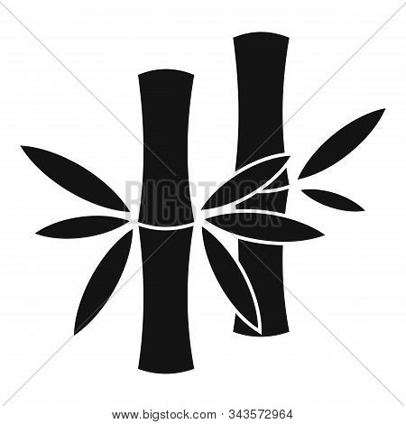 Stalk Bamboo Icon. Simple Illustration Of Stalk Bamboo Vector Icon For Web Design Isolated On White
