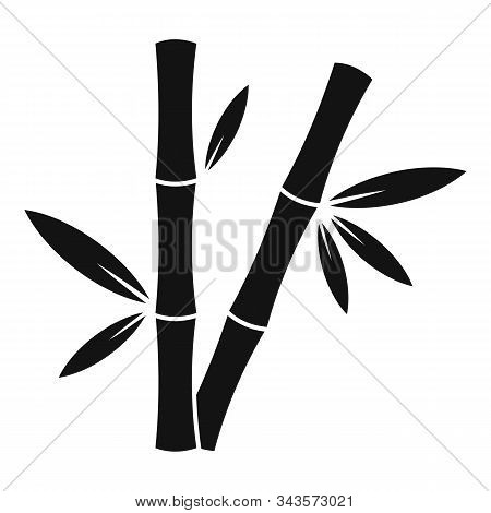 Jungle Bamboo Icon. Simple Illustration Of Jungle Bamboo Vector Icon For Web Design Isolated On Whit