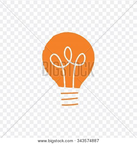 Light Bulb Icon Vector Sign Isolated For Graphic And Web Design. Lightbulb Solution Idea And Creativ
