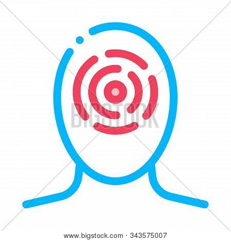 Sinusitis Brow Bone And Cheekbones Head Vector Icon Thin Line. Tension And Cluster, Migraine And Str