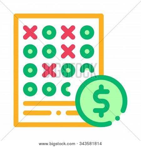 Bet Sheet Betting And Gambling Icon Vector Thin Line. Contour Illustration
