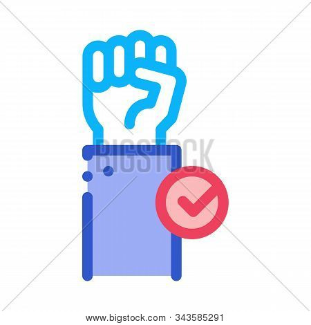 Cast Vote Icon Vector. Outline Cast Vote Sign. Isolated Contour Symbol Illustration