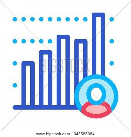 Candidate Statistics Icon Vector. Outline Candidate Statistics Sign. Isolated Contour Symbol Illustr