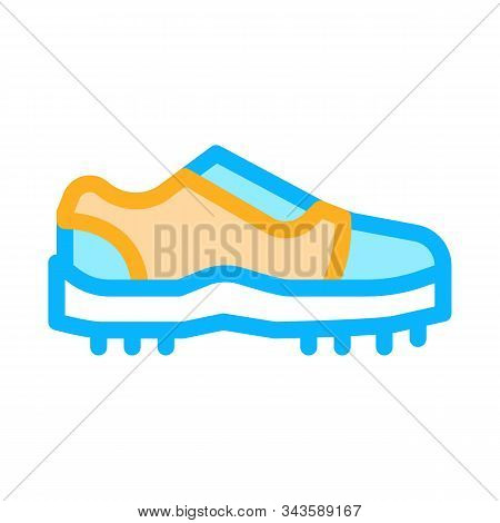 Sneakers For Cricket Icon Vector. Outline Sneakers For Cricket Sign. Isolated Contour Symbol Illustr