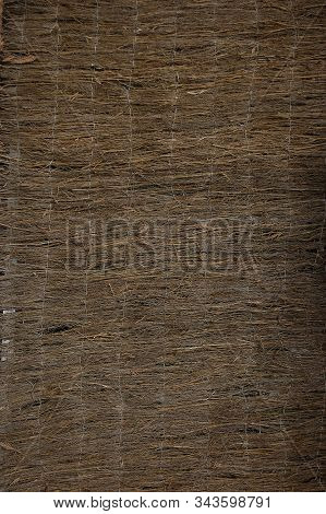 A Brown Hurdle Fence Panel Background Texture.