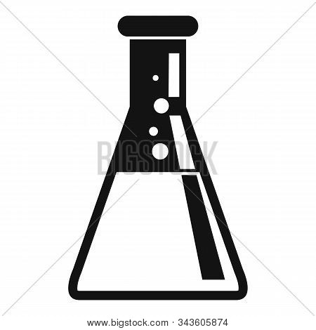 Chemical Mixing Flask Icon. Simple Illustration Of Chemical Mixing Flask Vector Icon For Web Design