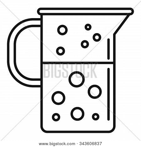 Boiling Lab Jug Icon. Outline Boiling Lab Jug Vector Icon For Web Design Isolated On White Backgroun
