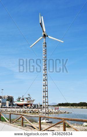 Windmill In The Gola Del Segura On The Segura River Of Guardamar Del Segura, Alicante. Spain. Europe
