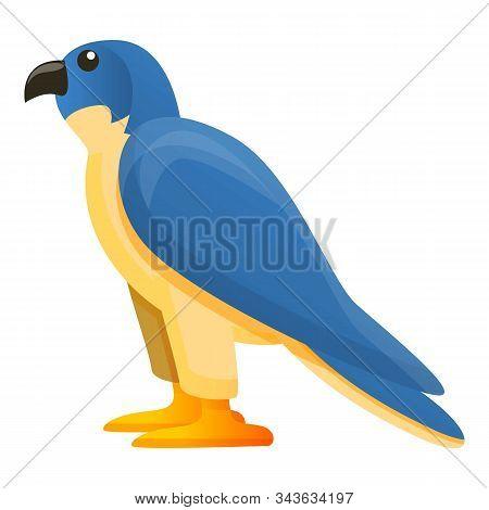 Egypt Falcon Icon. Cartoon Of Egypt Falcon Vector Icon For Web Design Isolated On White Background