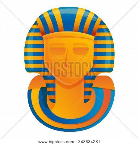 Pharaoh Monument Icon. Cartoon Of Pharaoh Monument Vector Icon For Web Design Isolated On White Back