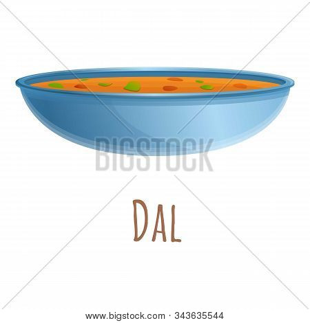 Dal Food Icon. Cartoon Of Dal Food Vector Icon For Web Design Isolated On White Background