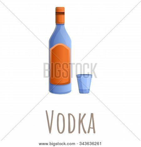 Russian Vodka Icon. Cartoon Of Russian Vodka Vector Icon For Web Design Isolated On White Background
