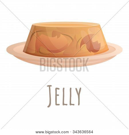 Jelly Icon. Cartoon Of Jelly Vector Icon For Web Design Isolated On White Background