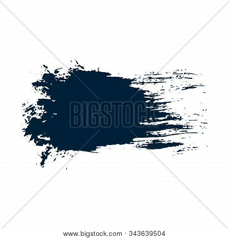 Grunge Hand Drawn Paint Brush. Vector Black Ink Brush Stroke. Paint Background High Brush Detail. Gr