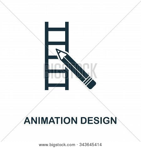 Animation Design Icon. Simple Element From Design Technology Collection. Filled Animation Design Ico