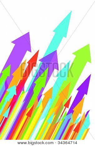 Multiple unidrectional arrows