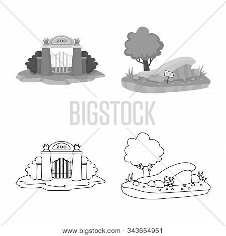 Isolated Object Of Nature And Fun Icon. Set Of Nature And Entertainment Vector Icon For Stock.