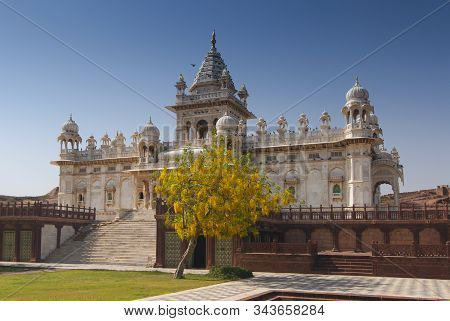 Jaswant Thada, Mausoleum Of Maharaja Jaswant Singh Ii, Jodhpur, Rajasthan, India.
