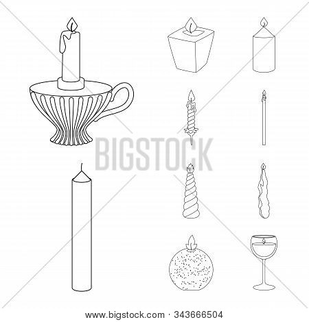 Vector Design Of Source And Ceremony Symbol. Collection Of Source And Fire Vector Icon For Stock.