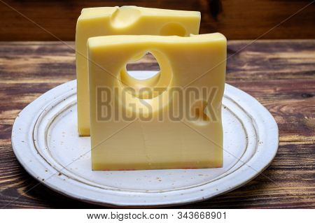 Cheese Collection, Swiss Emmentaler Cheese With Big Holes