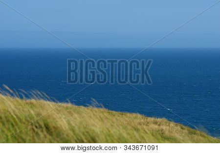 Costal Holiday Destination Near Dorset In South Of England During Summer