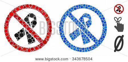 No Mourning Ribbon Composition Of Filled Circles In Variable Sizes And Color Tinges, Based On No Mou