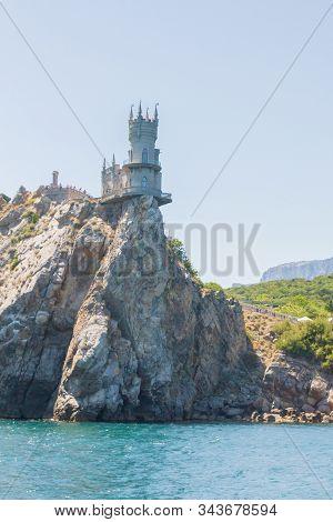 The Famous Place Of Crimea Castle Swallow's Nest On The Rock