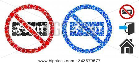 No Exit Composition Of Circle Elements In Different Sizes And Shades, Based On No Exit Icon. Vector