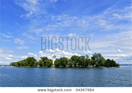 Island On Lake Chiemsee