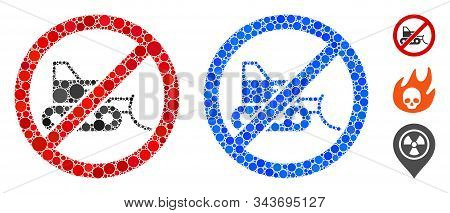 No Bulldozer Composition Of Round Dots In Various Sizes And Color Tints, Based On No Bulldozer Icon.
