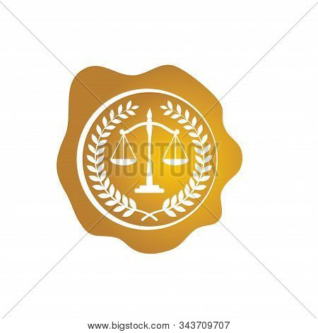 Law Firm Logo Vector Template Design Gold Color