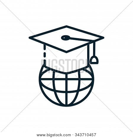 Graduation Cap And Global Design, University Education School College Academic Ceremony Degree And S