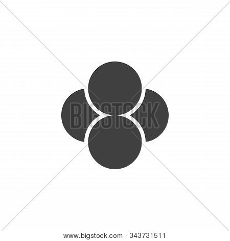 Tetraphosphorus Molecular Structure Vector Icon. Filled Flat Sign For Mobile Concept And Web Design.